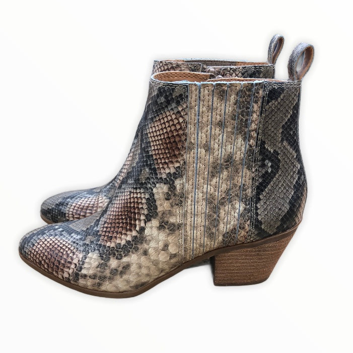 Photo #2 - BRAND: FRYE <BR>STYLE: BOOTS ANKLE <BR>COLOR: SNAKESKIN PRINT <BR>SIZE: 8 <BR>SKU: 220-220138-26776