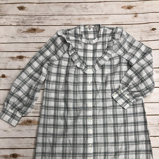 Primary Photo - BRAND: MADEWELL STYLE: DRESS SHORT LONG SLEEVE COLOR: PLAID SIZE: M SKU: 220-22012-34130