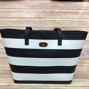 Primary Photo - BRAND: MICHAEL KORS STYLE: HANDBAG DESIGNER COLOR: BLACK WHITE SIZE: LARGE SKU: 220-220138-24088