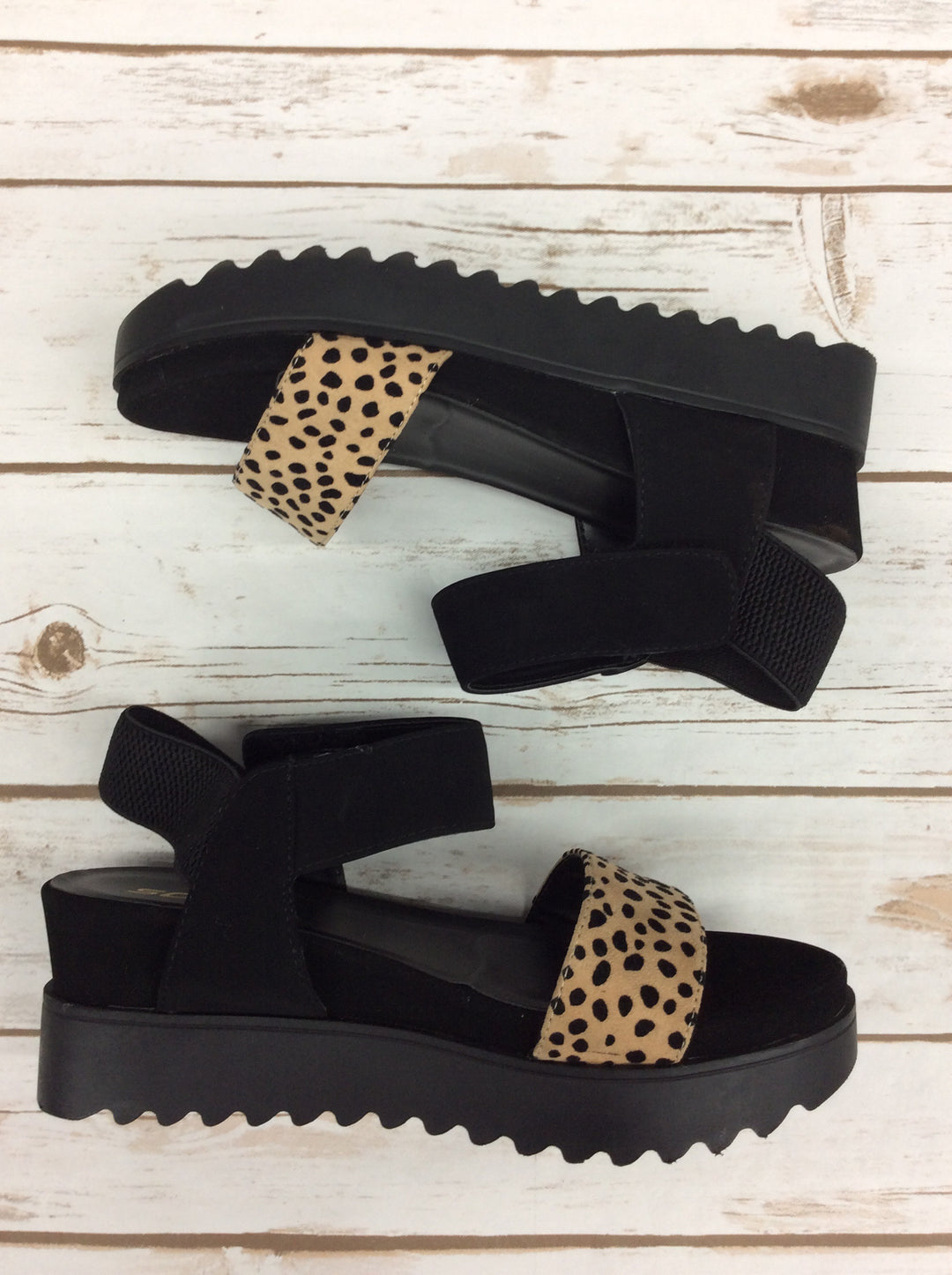 Photo #3 - BRAND: SODA <BR>STYLE: SANDALS HIGH <BR>COLOR: BLACK <BR>SIZE: 9 <BR>SKU: 220-220160-1148