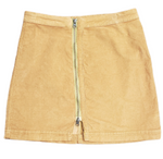 Primary Photo - BRAND: FREE PEOPLE <BR>STYLE: SKIRT <BR>COLOR: TAN <BR>SIZE: 6 <BR>SKU: 220-220138-25701<BR>MUSTARD BROWN COLOR IN PERSON(PICTURES AS ORANGE)
