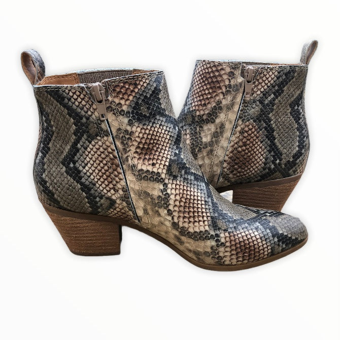 Photo #4 - BRAND: FRYE <BR>STYLE: BOOTS ANKLE <BR>COLOR: SNAKESKIN PRINT <BR>SIZE: 8 <BR>SKU: 220-220138-26776