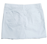 Photo #1 - BRAND: KENZIE <BR>STYLE: SKIRT <BR>COLOR: WHITE <BR>SIZE: 6 <BR>SKU: 220-220138-26694