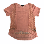 Primary Photo - BRAND: POL <BR>STYLE: TOP SHORT SLEEVE <BR>COLOR: CORAL <BR>SIZE: S <BR>SKU: 220-22095-11017