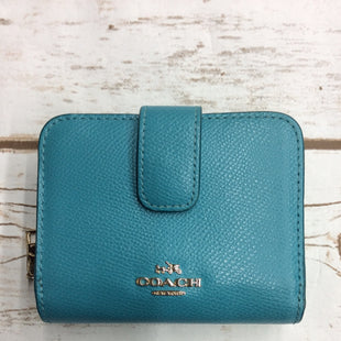 Primary Photo - BRAND: COACH STYLE: WALLET COLOR: AQUA SIZE: SMALL SKU: 220-220138-26075