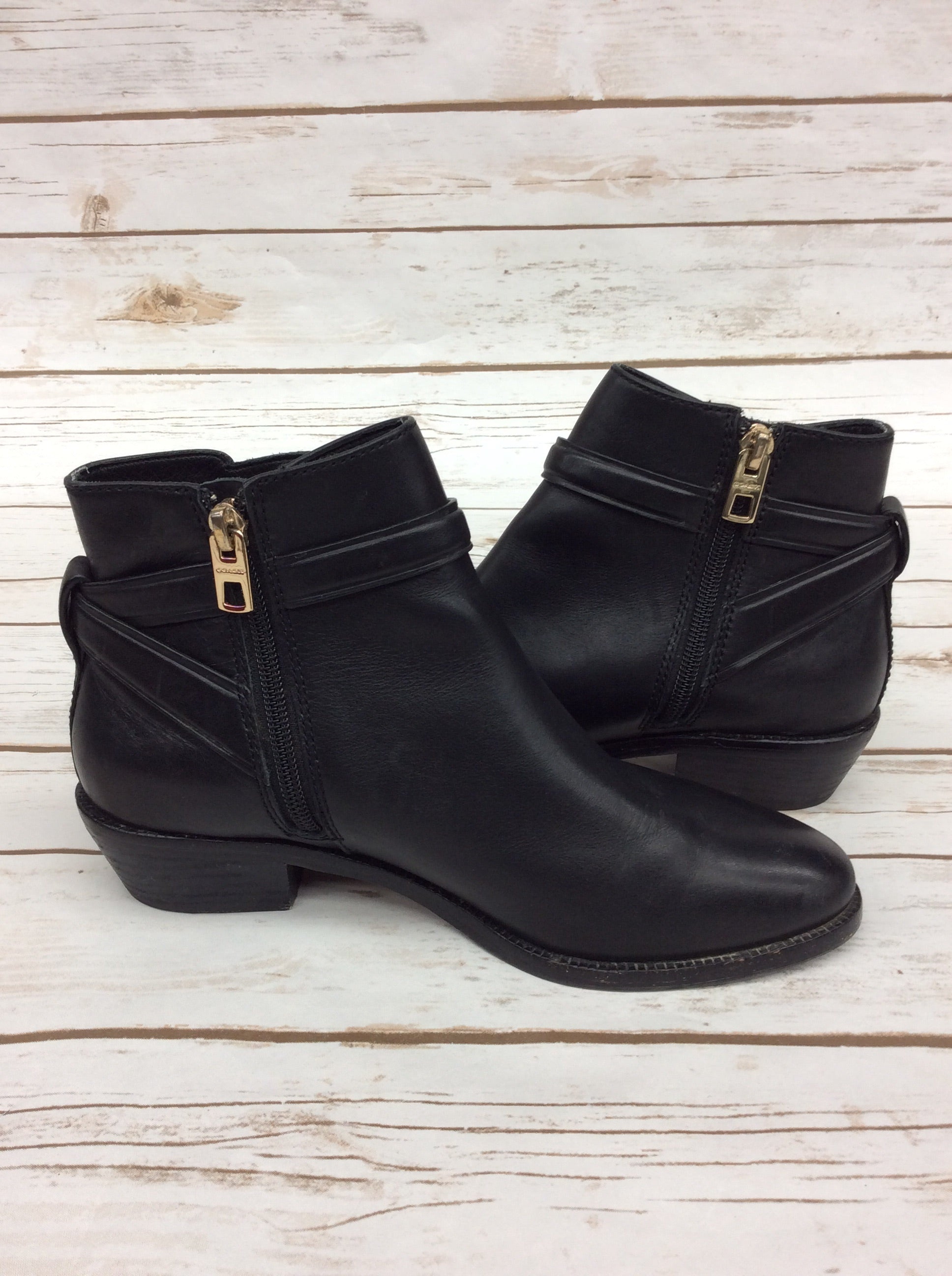 Photo #4 - BRAND: COACH <BR>STYLE: BOOTS ANKLE <BR>COLOR: BLACK <BR>SIZE: 6.5 <BR>OTHER INFO: AS IS <BR>SKU: 220-220153-4536