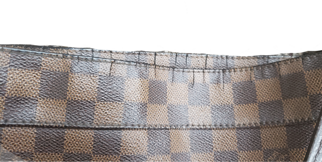 Photo #5 - BRAND: LOUIS VUITTON MARYLEBONE DAMIER GM <BR>STYLE: HANDBAG DESIGNER <BR>COLOR: MONOGRAM <BR>SIZE: LARGE <BR>OTHER INFO: AS IS- HANDLE WEAR AND CRACKING AROUND TOP EDGE<BR>SKU: 220-22090-7659