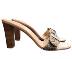 Photo #1 - BRAND: COACH <BR>STYLE: SANDALS LOW <BR>COLOR: TAN <BR>SIZE: 8 <BR>SKU: 220-220128-15049