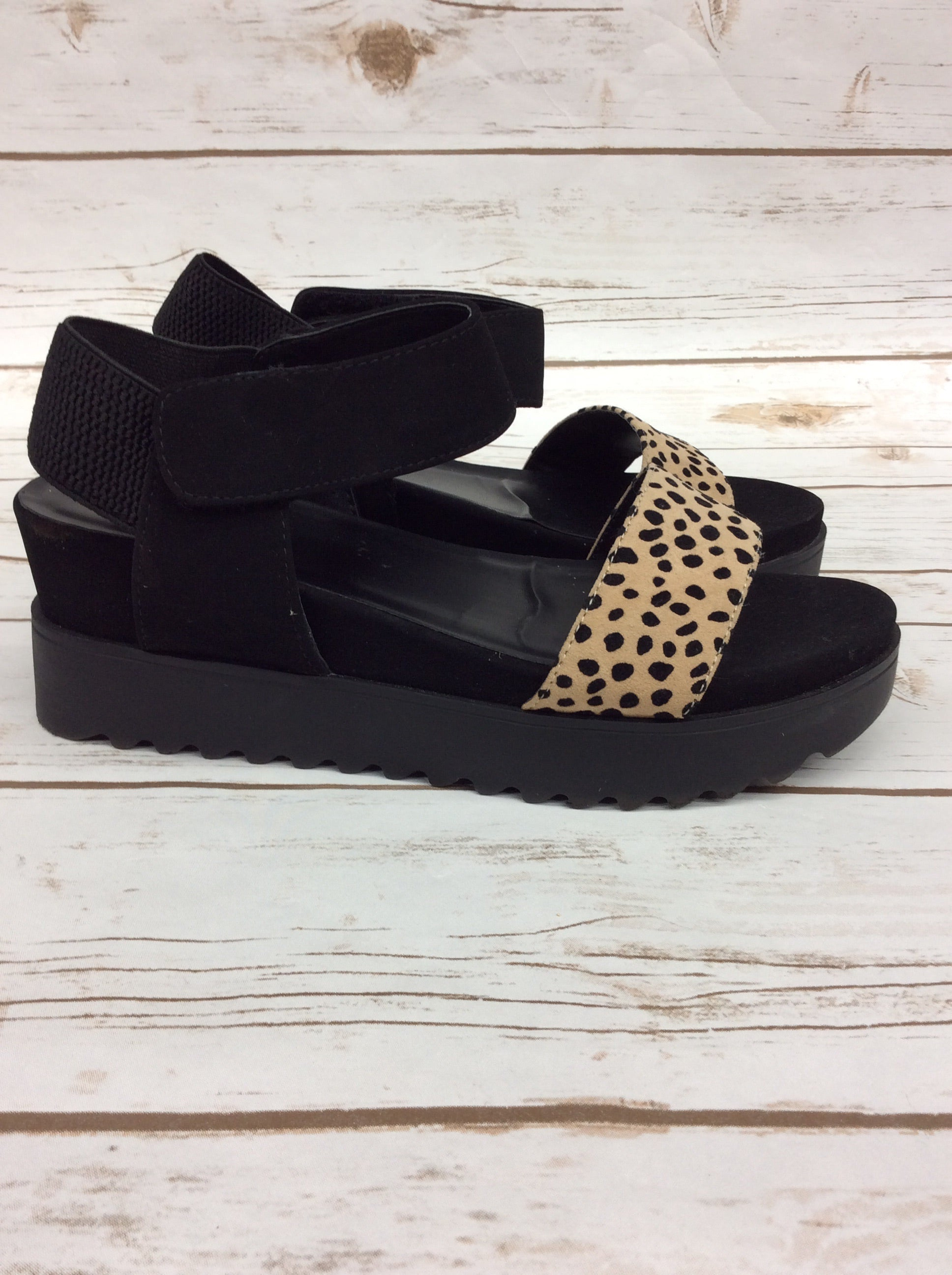 Photo #1 - BRAND: SODA <BR>STYLE: SANDALS HIGH <BR>COLOR: BLACK <BR>SIZE: 9 <BR>SKU: 220-220160-1148