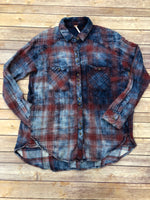 Primary Photo - BRAND: FREE PEOPLE <BR>STYLE: TOP LONG SLEEVE <BR>COLOR: PLAID <BR>SIZE: XS <BR>SKU: 220-22012-34183