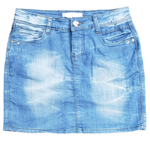 Primary Photo - BRAND:    CLOTHES MENTOR STYLE: SKIRT COLOR: DENIM SIZE: 4 OTHER INFO: C AND Z - SKU: 220-220128-12760R