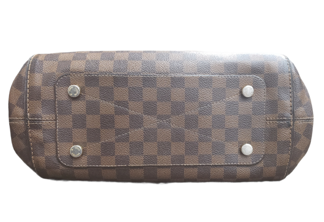 Photo #1 - BRAND: LOUIS VUITTON MARYLEBONE DAMIER GM <BR>STYLE: HANDBAG DESIGNER <BR>COLOR: MONOGRAM <BR>SIZE: LARGE <BR>OTHER INFO: AS IS- HANDLE WEAR AND CRACKING AROUND TOP EDGE<BR>SKU: 220-22090-7659