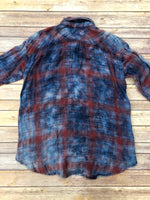 Photo #3 - BRAND: FREE PEOPLE <BR>STYLE: TOP LONG SLEEVE <BR>COLOR: PLAID <BR>SIZE: XS <BR>SKU: 220-22012-34183