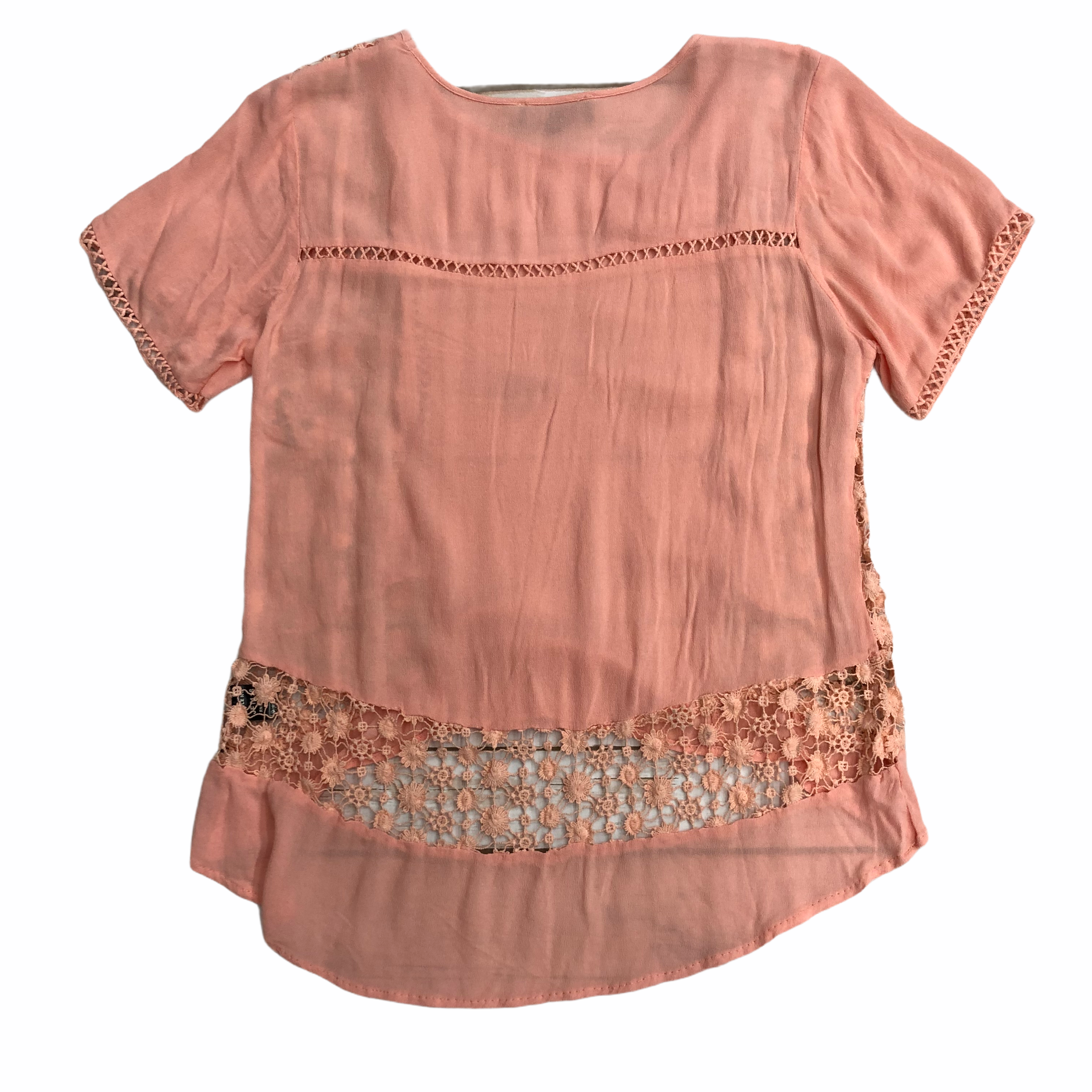 Photo #1 - BRAND: POL <BR>STYLE: TOP SHORT SLEEVE <BR>COLOR: CORAL <BR>SIZE: S <BR>SKU: 220-22095-11017