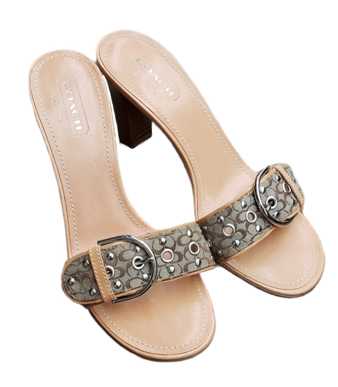 Primary Photo - BRAND: COACH <BR>STYLE: SANDALS LOW <BR>COLOR: TAN <BR>SIZE: 8 <BR>SKU: 220-220128-15049