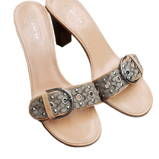 Primary Photo - BRAND: COACH STYLE: SANDALS LOW COLOR: TAN SIZE: 8 SKU: 220-220128-15049