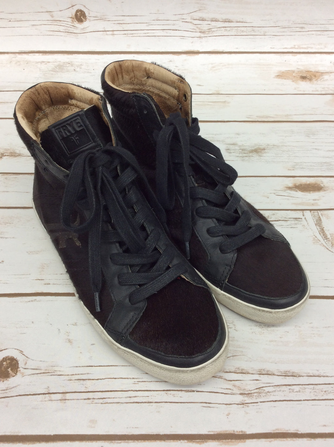 Primary Photo - BRAND: FRYE <BR>STYLE: SHOES ATHLETIC <BR>COLOR: BLACK/BROWN<BR>SIZE: 9 <BR>SKU: 220-22012-33370