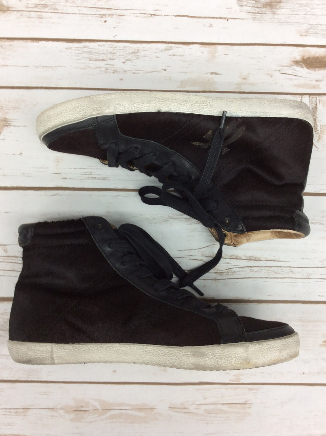 Photo #3 - BRAND: FRYE <BR>STYLE: SHOES ATHLETIC <BR>COLOR: BLACK/BROWN<BR>SIZE: 9 <BR>SKU: 220-22012-33370