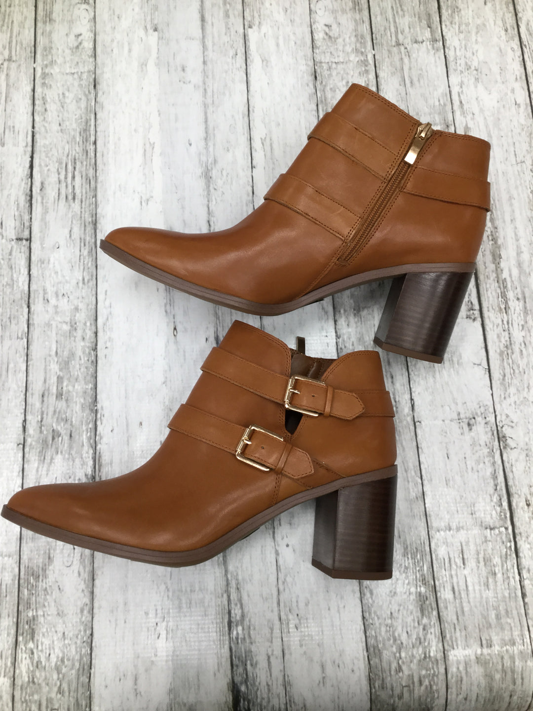 Primary Photo - BRAND: FRANCO SARTO , STYLE: BOOTS ANKLE , COLOR: BROWN , SIZE: 11 , SKU: 105-4940-2302