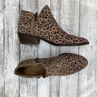 Primary Photo - BRAND: LUCKY BRAND , STYLE: BOOTS ANKLE , COLOR: ANIMAL PRINT , SIZE: 11 , SKU: 105-4940-5452