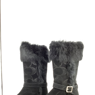 Primary Photo - BRAND: COACH , STYLE: BOOTS DESIGNER , COLOR: BLACK , SIZE: 6 , SKU: 105-4189-796
