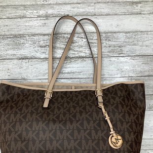 Primary Photo - BRAND: MICHAEL KORS , STYLE: TOTE , COLOR: BROWN , SIZE: LARGE , OTHER INFO: STAIN , SKU: 105-4189-1704