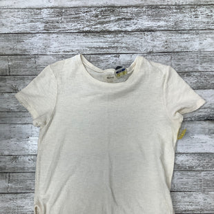 Primary Photo - BRAND: MADEWELL , STYLE: TOP SHORT SLEEVE BASIC , COLOR: CREAM , SIZE: S , SKU: 105-3752-30359