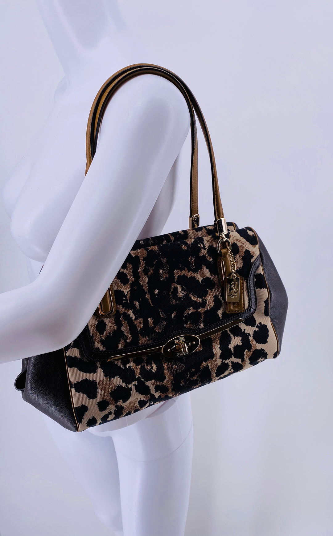 Primary Photo - BRAND: COACH , STYLE: HANDBAG , COLOR: ANIMAL PRINT , SIZE: MEDIUM , SKU: 105-3221-5536