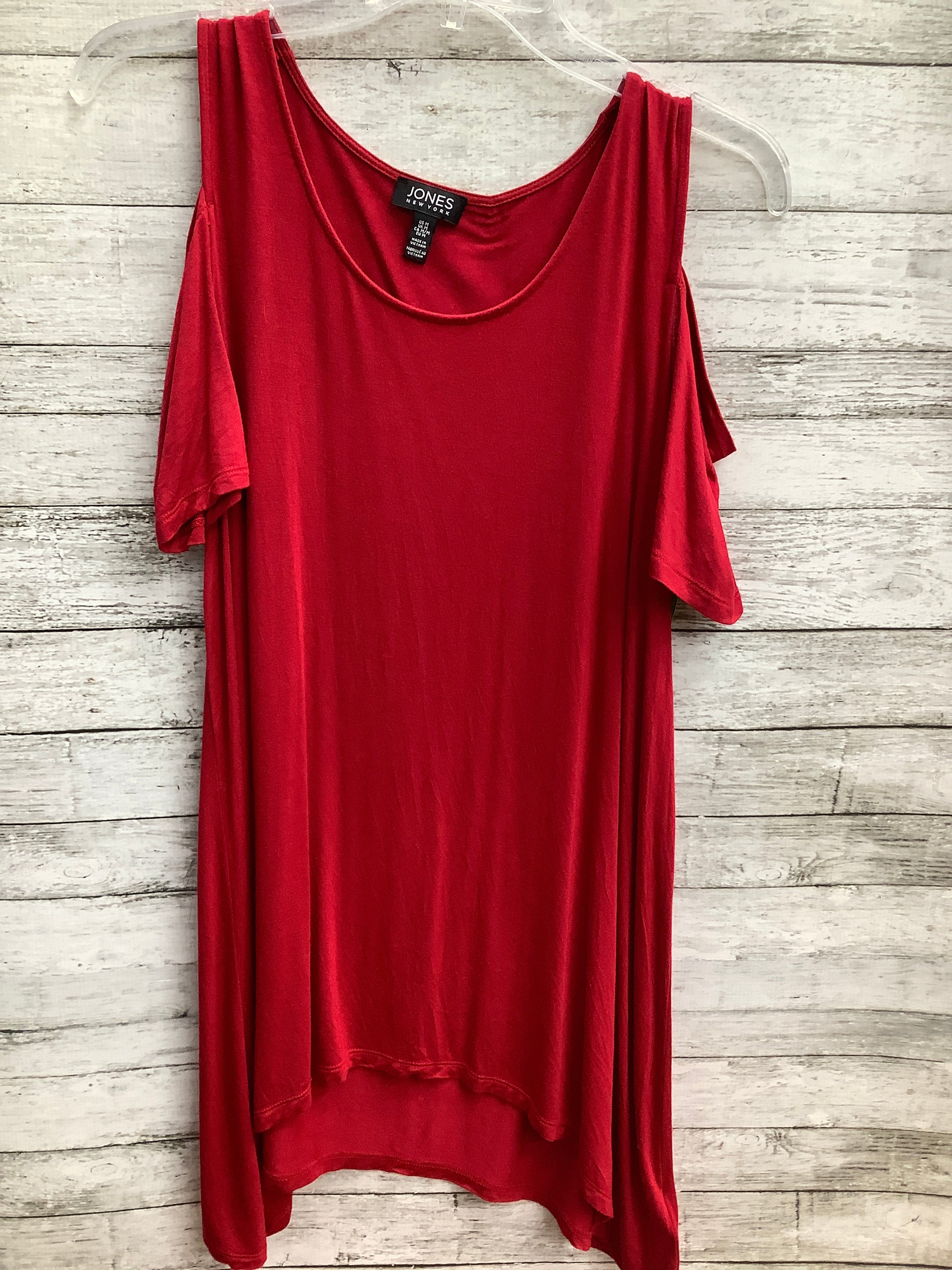 Primary Photo - brand: jones new york , style: top short sleeve , color: red , size: m , sku: 105-5184-42