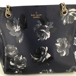"Kate Spade New York Briar Lane Meena Night Floral Navy Shoulder Bag - <P>12""X8.5""X5 DUAL LEATHER CHAIN TOP HANDLES DROP 5.5"" ,   GOLD TONE HARDWARE,   MIDDLE ZIP POCKET WALL ZIP AND SLIP POCKETS,  SIGNATURE LINING</P>"