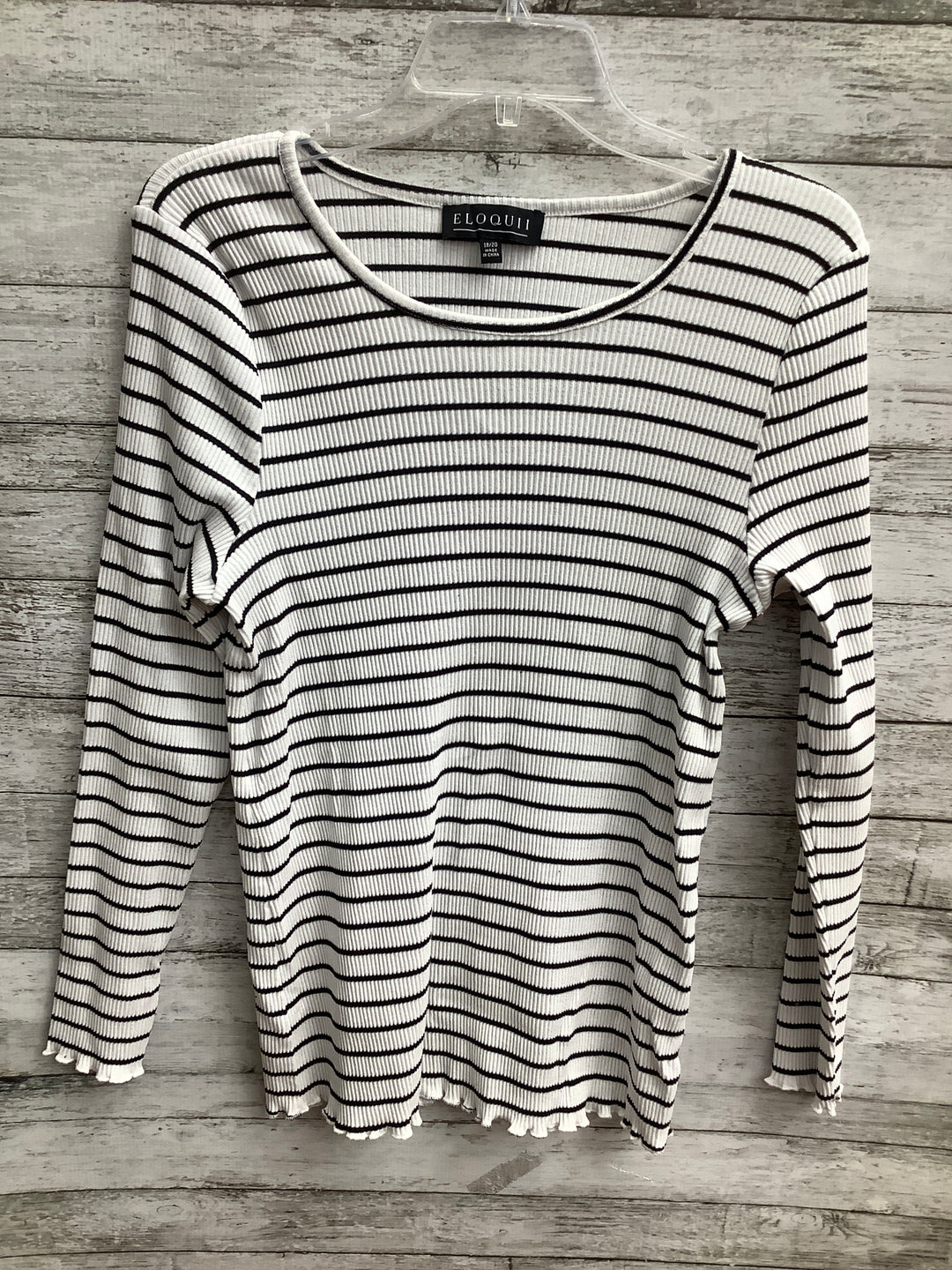 Primary Photo - brand: eloquii , style: top long sleeve basic , color: striped , size: 1x , sku: 105-4940-7807