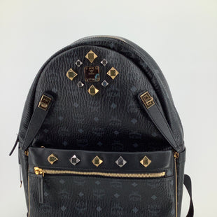 Primary Photo - BRAND: MCM STYLE: BACKPACK DUAL STARK VISETOS BACKPACK COLOR: BLACK SIZE: LARGE SKU: 105-3221-11130