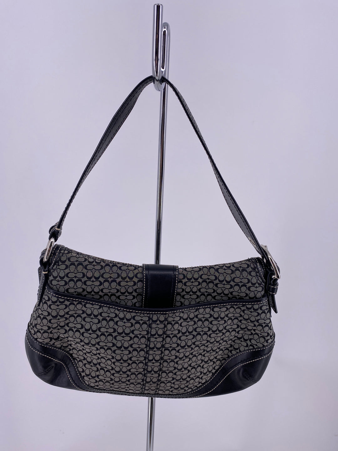 Photo #1 - brand: coach , style: handbag designer , color: black , size: small , other info: as is , sku: 105-4189-7168