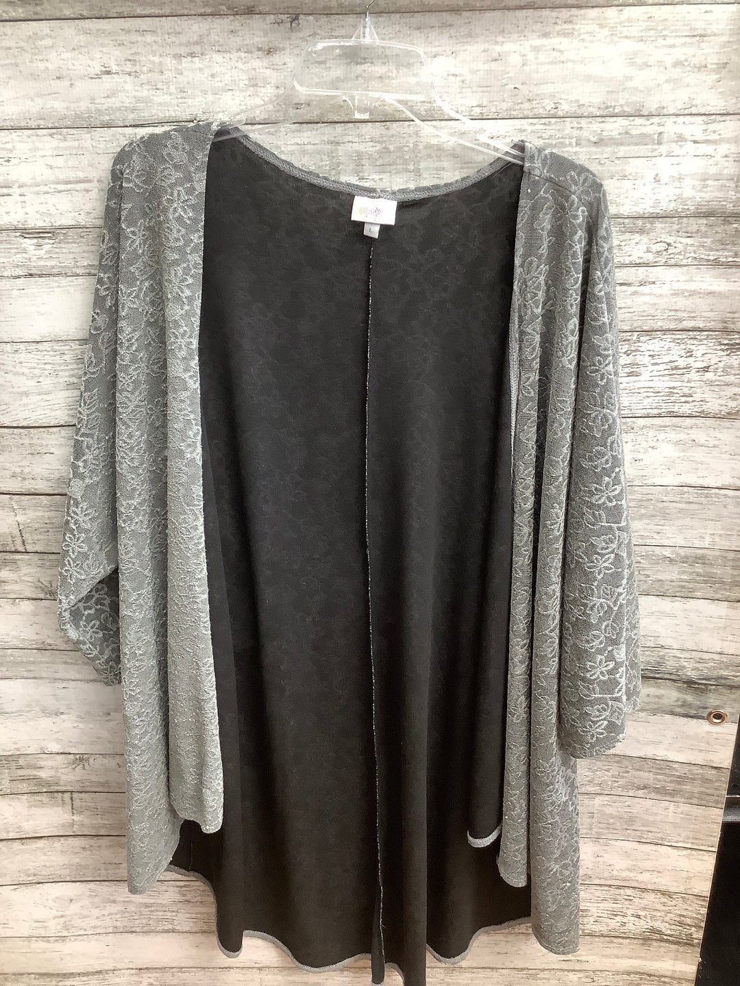 Primary Photo - brand: lula roe , style: sweater cardigan lightweight , color: grey , size: l , sku: 105-4605-10258