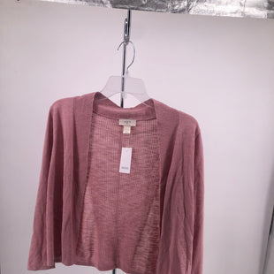 Primary Photo - BRAND: LOFT , STYLE: SWEATER CARDIGAN LIGHTWEIGHT , COLOR: DUSTY PINK , SIZE: L , OTHER INFO: NEW! , SKU: 105-4189-1286
