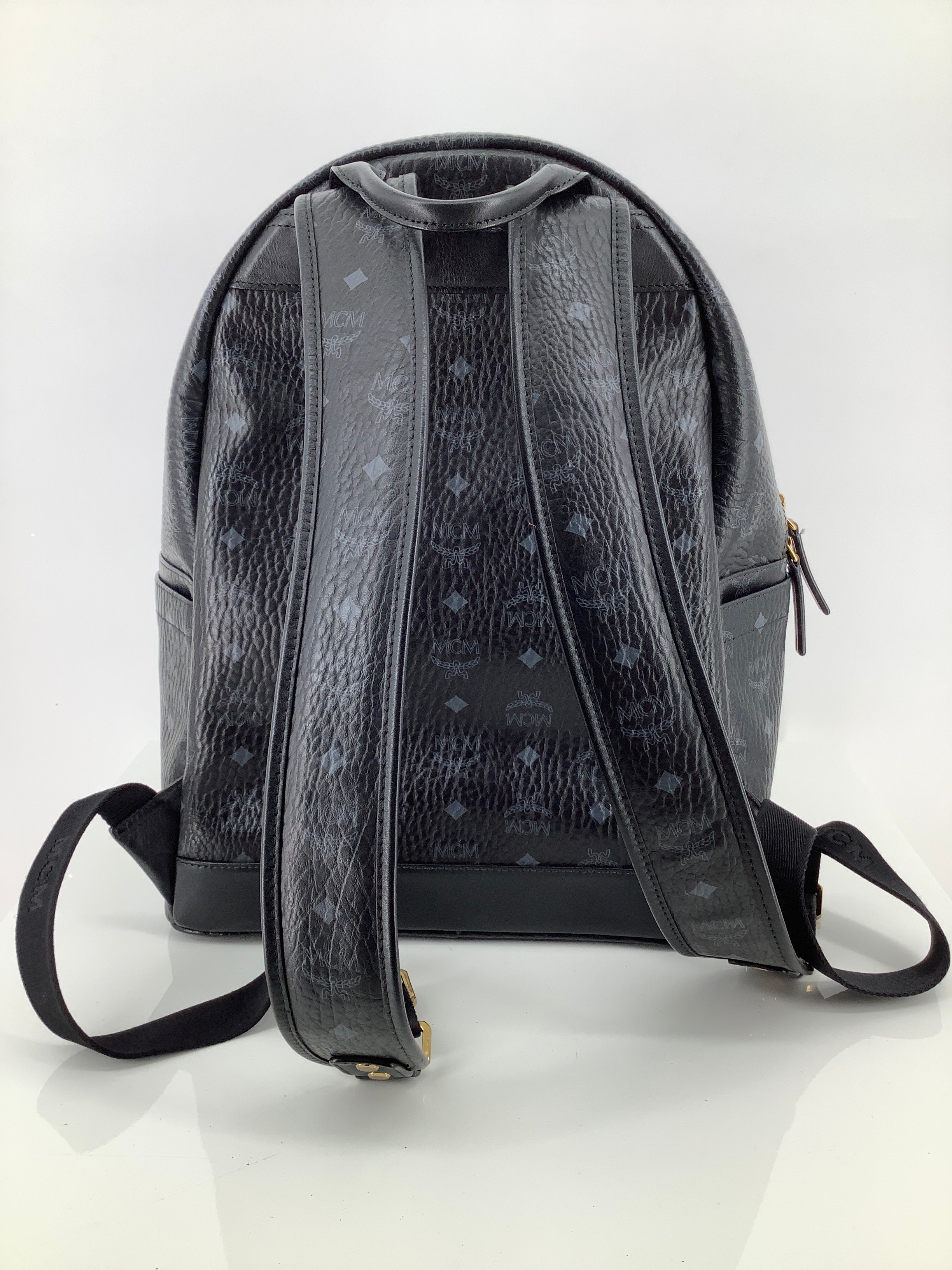 Photo #2 - BRAND: MCM , STYLE: BACKPACK DUAL STARK VISETOS BACKPACK , COLOR: BLACK , SIZE: LARGE , SKU: 105-3221-11130