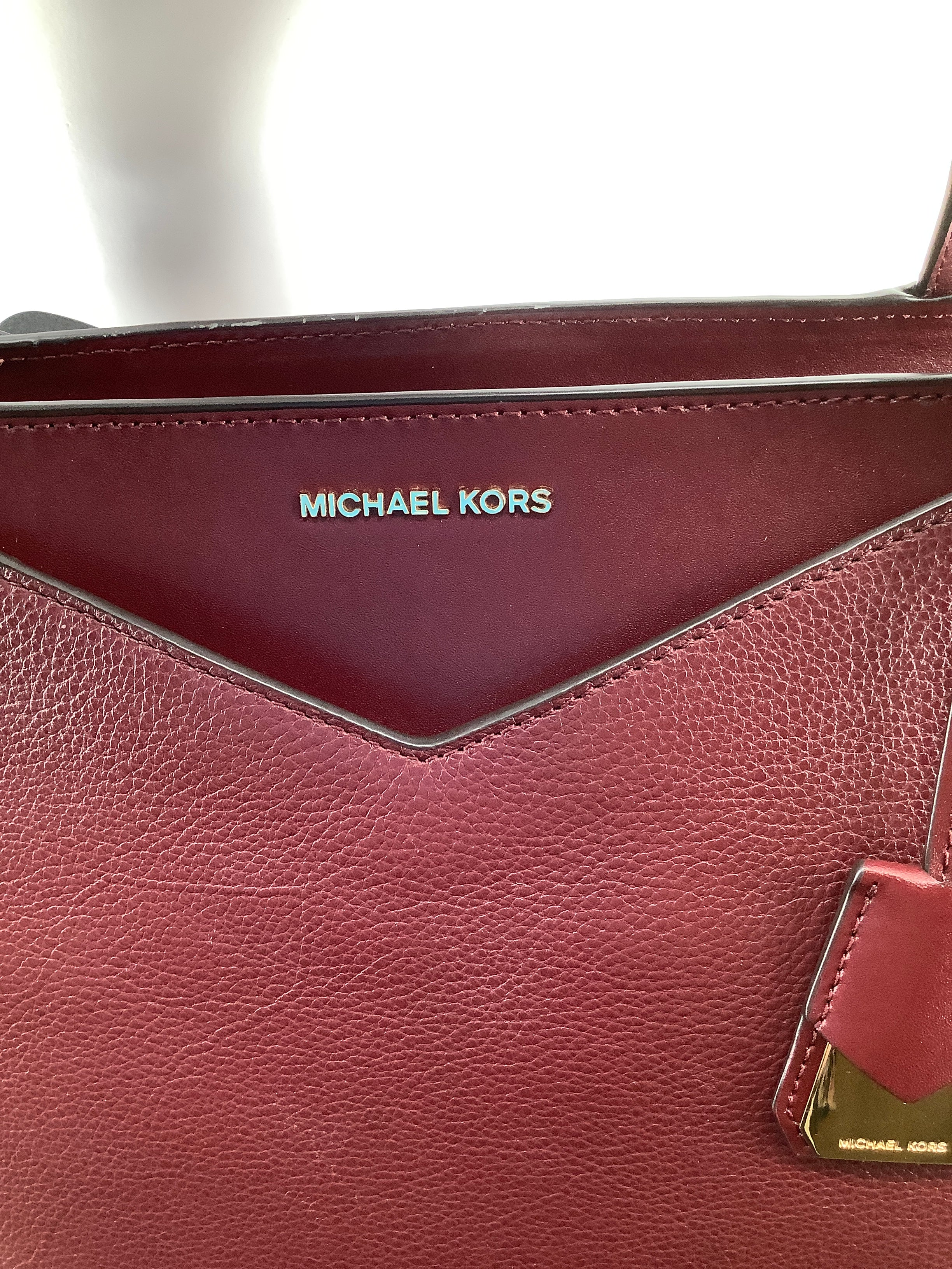 Photo #1 - BRAND: MICHAEL KORS , STYLE: HANDBAG DESIGNER , COLOR: BURGUNDY , SIZE: LARGE , OTHER INFO: AS IS DUE TO COSMETIC WEAR. AS SEEN IN PICTURES, SKU: 105-3752-29907