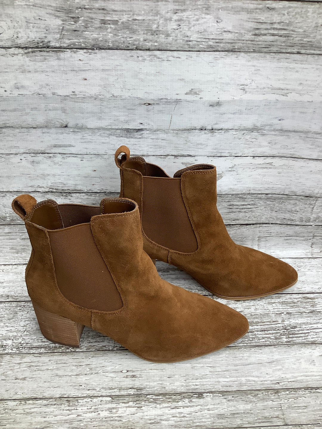 Photo #1 - brand: steve madden , style: boots ankle , color: tan , size: 11 , sku: 105-5023-2963