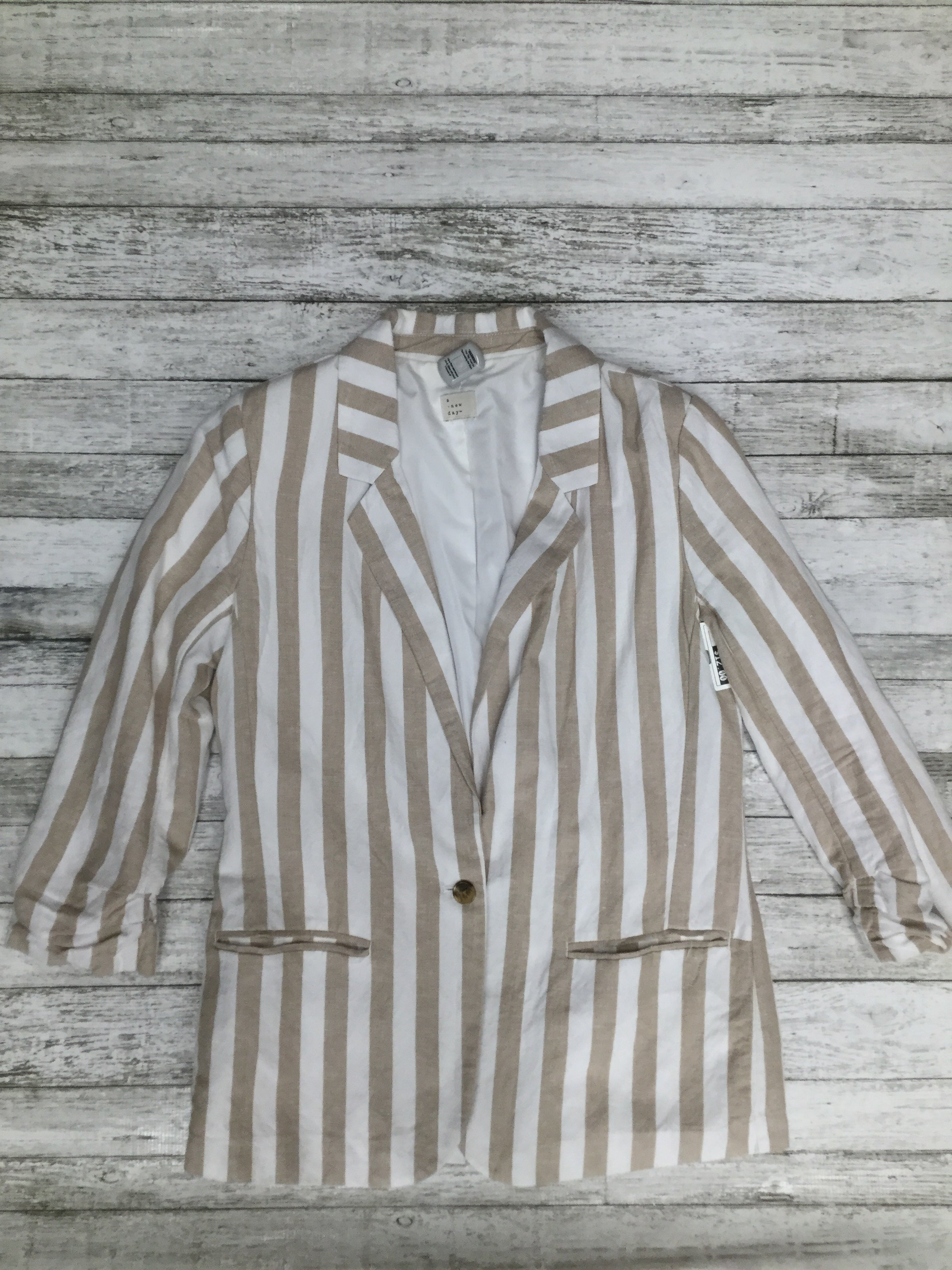 Primary Photo - BRAND: A NEW DAY , STYLE: BLAZER JACKET , COLOR: STRIPED , SIZE: M , SKU: 105-3221-7319