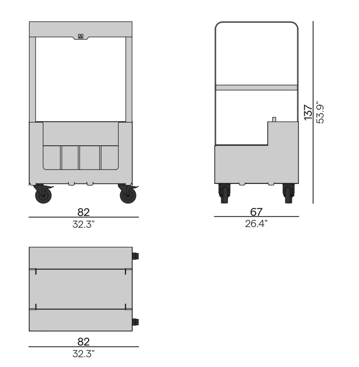 Elements Trolly for backrests Size