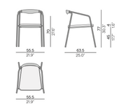 Manutti Duo Chair Size