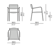 Manutti Echo Dining Chair Size