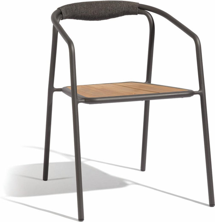 Manutti Duo Chair Lava rope teak
