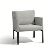 Manutti Liner Lounge Chair Lava Grey