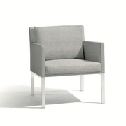 Manutti Liner Lounge Chair White grey