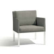 Manutti Liner Lounge Chair White Dark Grey