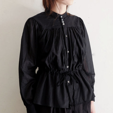 [the last flower of the afternoon]揺蕩いのdrawstring blouse