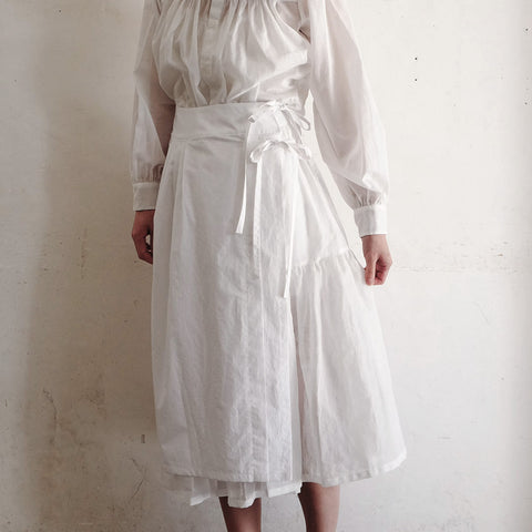 [the last flower of the afternoon]朝月のwrap skirt