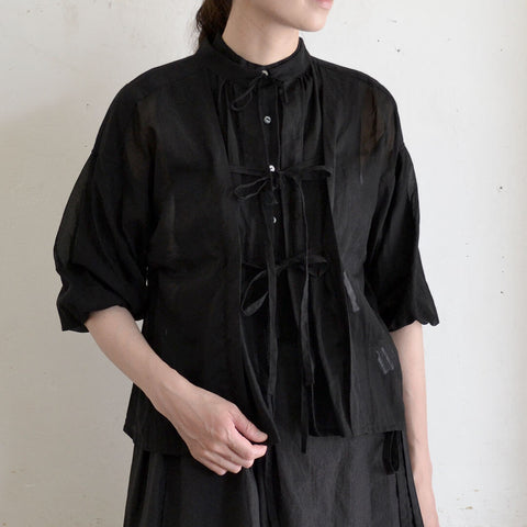 [the last flower of the afternoon]靄然のballoon sleeve blouse