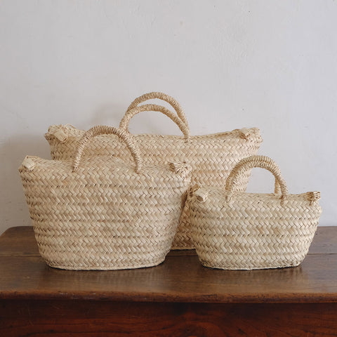 【かご展】[CASTELLA NOTE]Palm Basket Boston